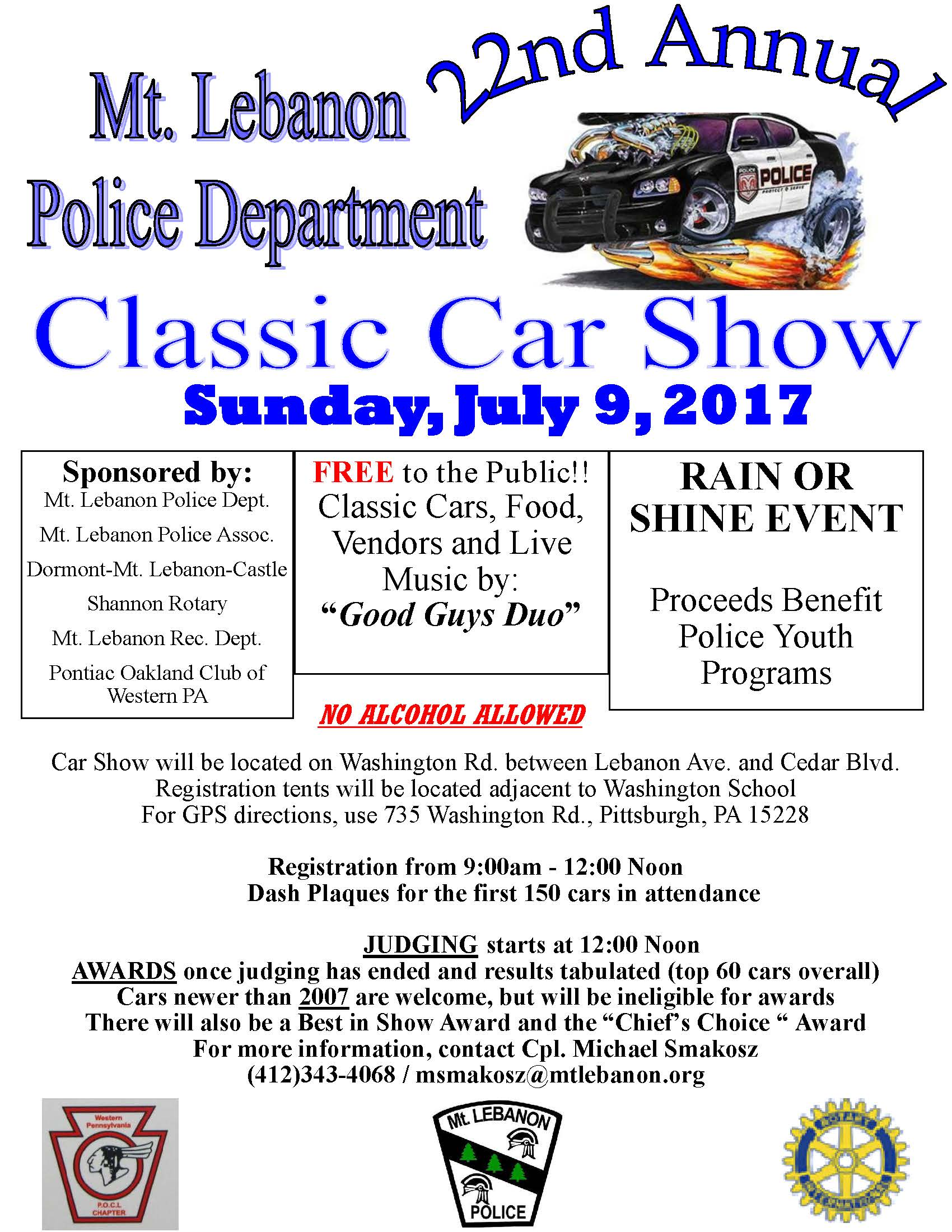 Mt Lebanon PA Official Website - Car show pittsburgh pa