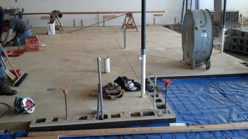 2-12-14 Finished Bathhouse Floor- Mens Room