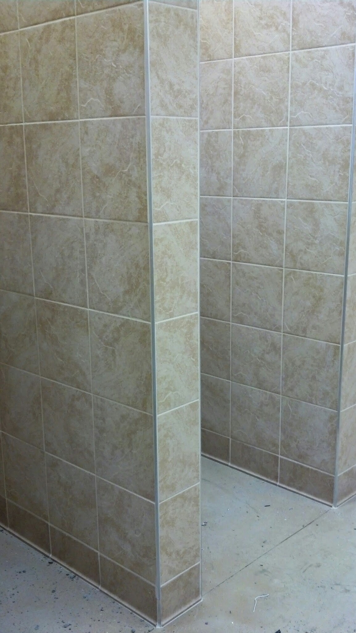 4-28-14 Tile in Showers
