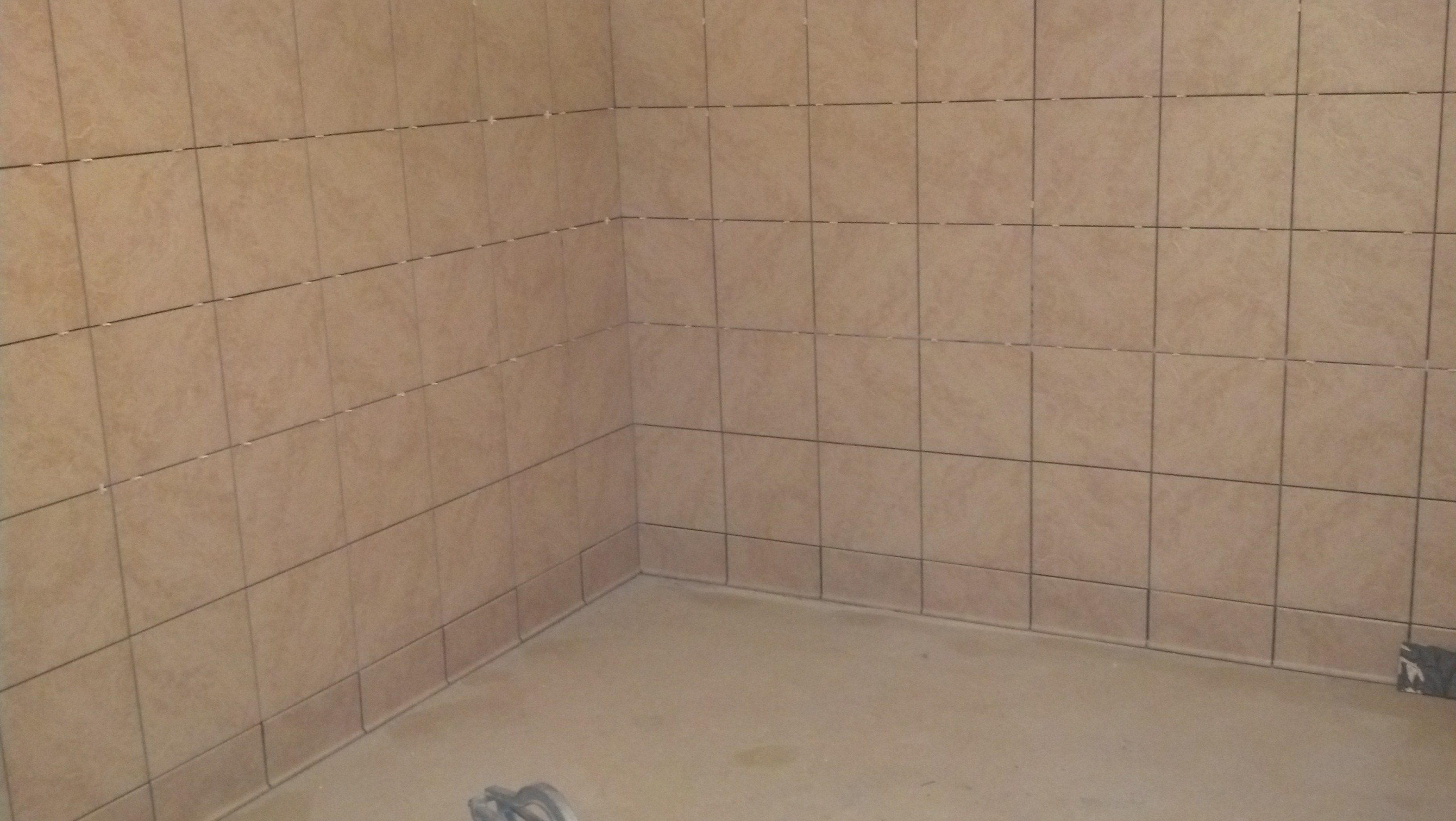 4-3-14 Tile Installation in Women's Changing Room