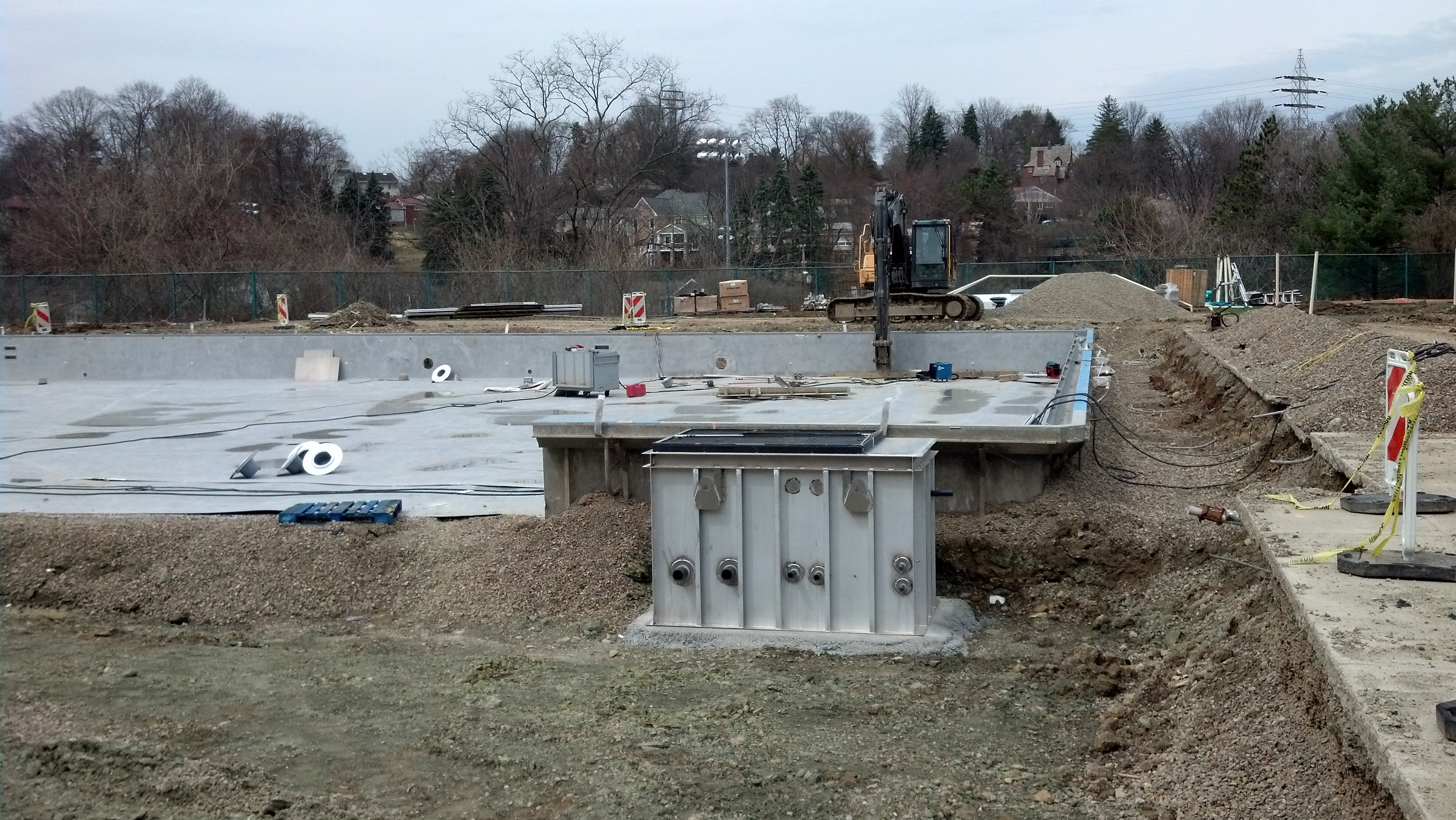 4-3-14 Wall Section Installation Near Shallow Wate