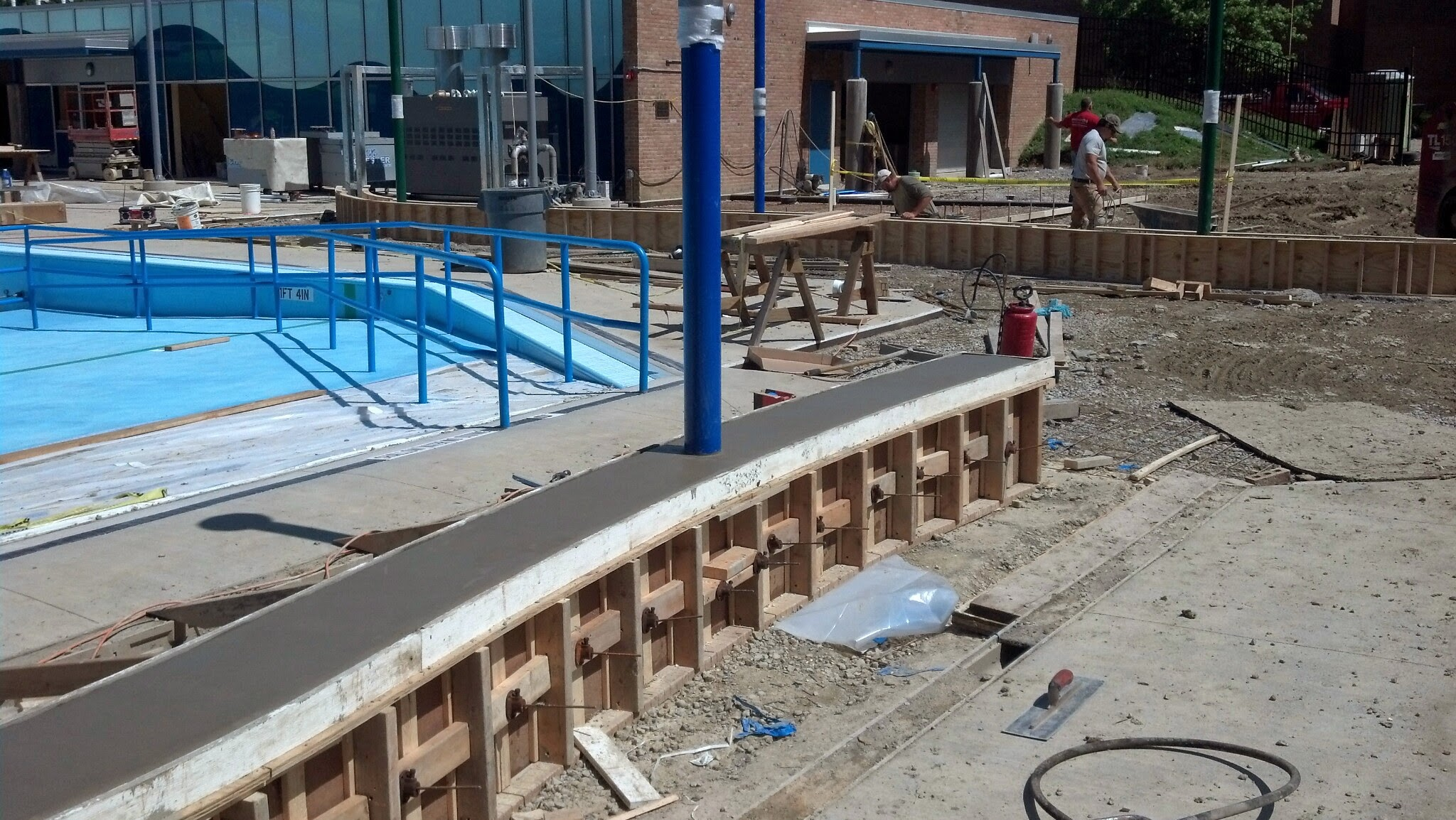 6-5-14 Poured Short Seat Wall
