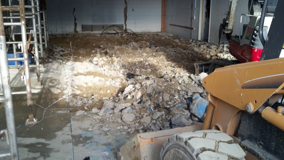 Removal of Bathhouse Floors (2)